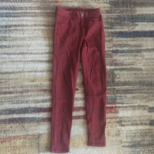 American Eagle Ne(x)t Level Stretch Red Jeggings